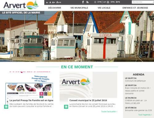 Le site de la mairie de Arvert fait peau neuve !