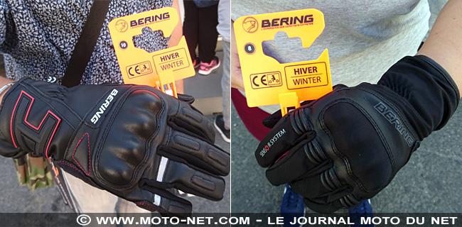 Une paire de gants offerte aux utilisateurs de la piste d'éducation routière au Mondial de la Moto