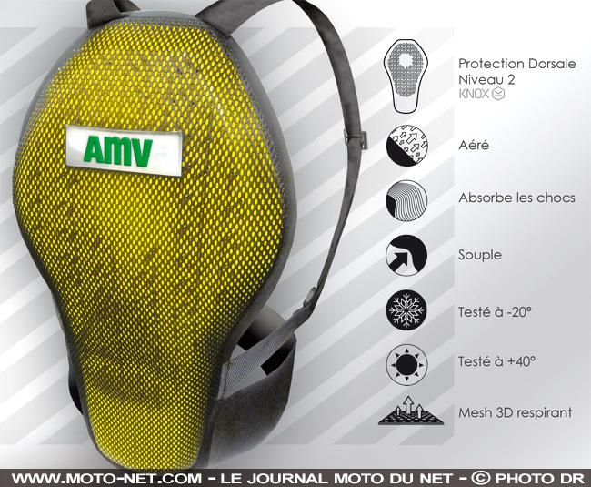 AMV veut généraliser le port de la protection dorsale chez les motards